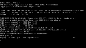 PXE boot from the network