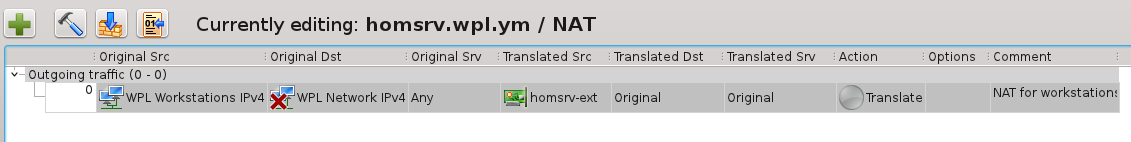 Home Server NAT rule