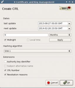 Generate CRL.