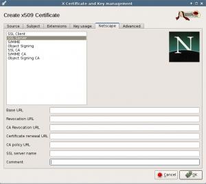 Mail certificate Netscape.